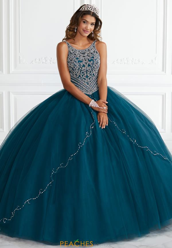 Tiffany Quinceanera Long Beaded Gown 56388