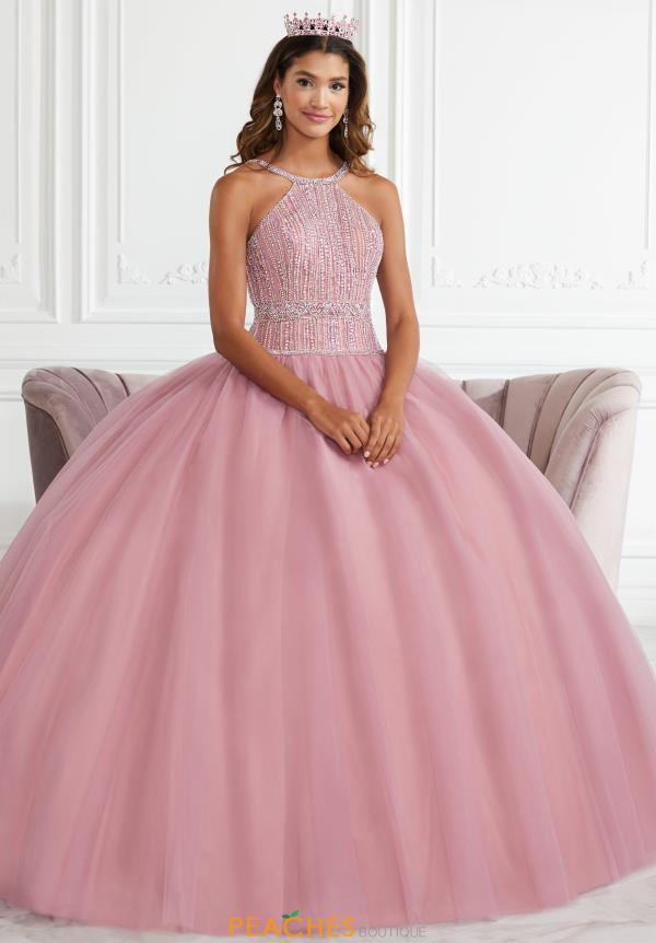 Tiffany Quinceanera Tulle Beaded Gown 56391