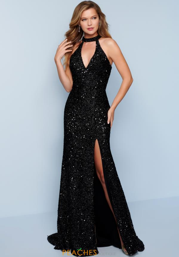 Splash Fully Beaded V-Neck Dress K389