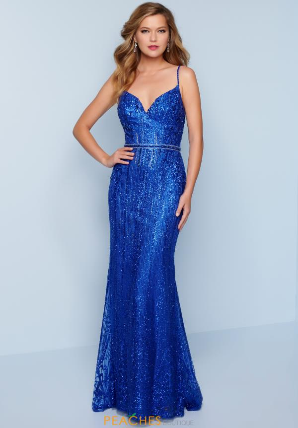 Splash Fitted Glitter Dress K401