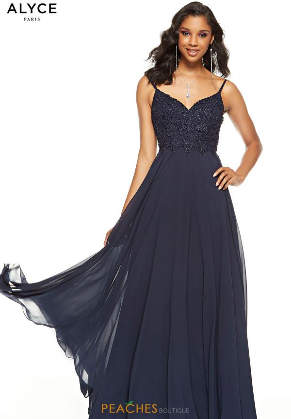 Alyce Paris V- Neckline A Line Dress 60638