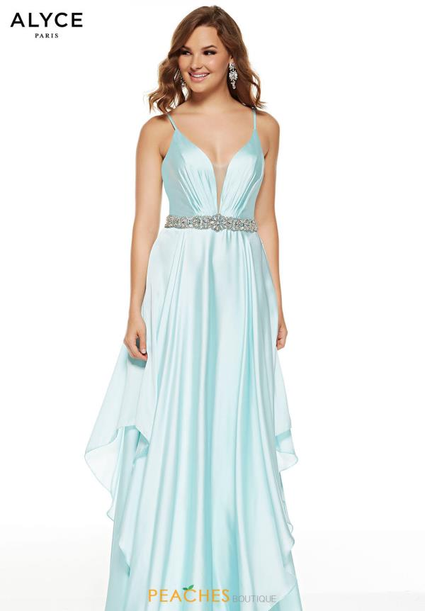Alyce Paris Long Satin Dress 60641
