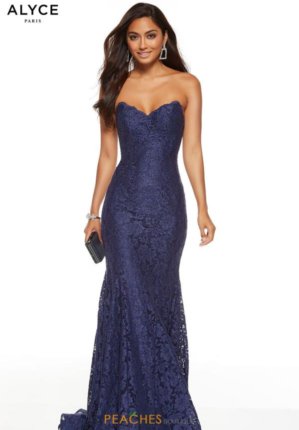 Alyce Paris Strapless Long Dress 60653