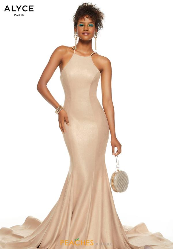 Alyce Paris Long Fitted Dress 60690