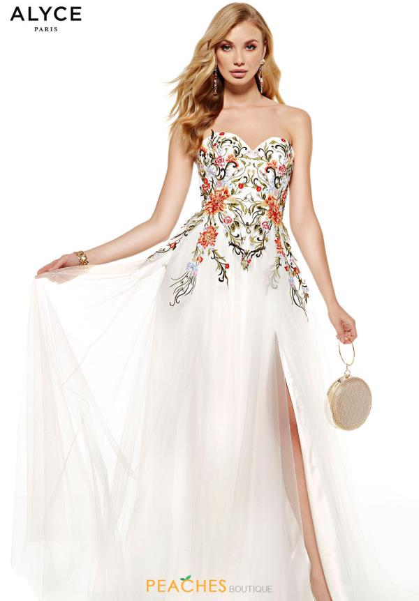 Alyce Paris Long White Dress 60699
