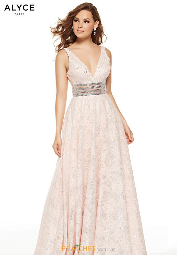 Alyce Paris Long Blush Dress 60757