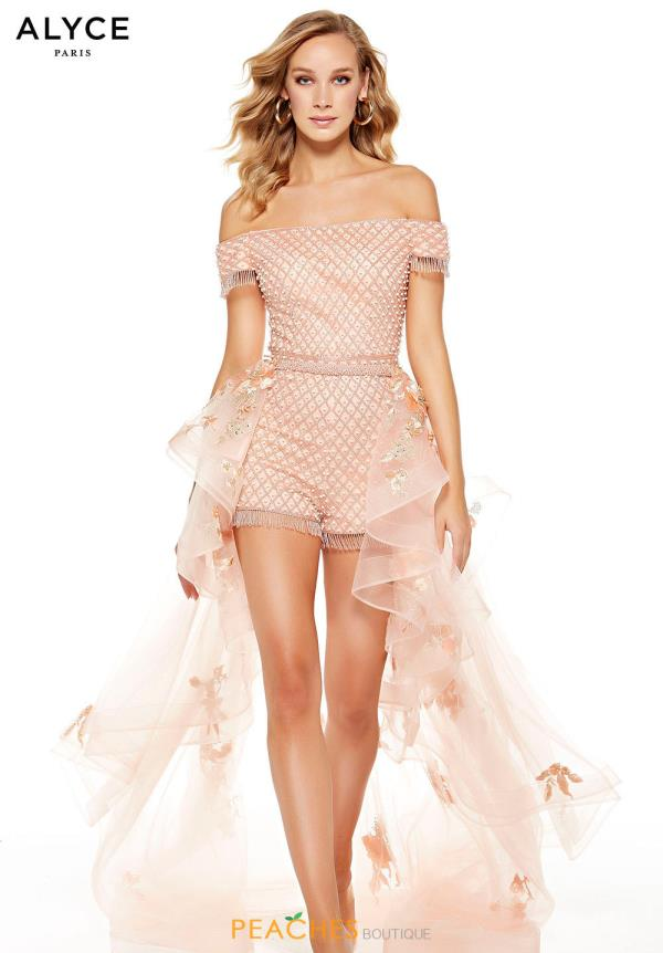 Alyce Paris Off the Shoulder Romper 60759