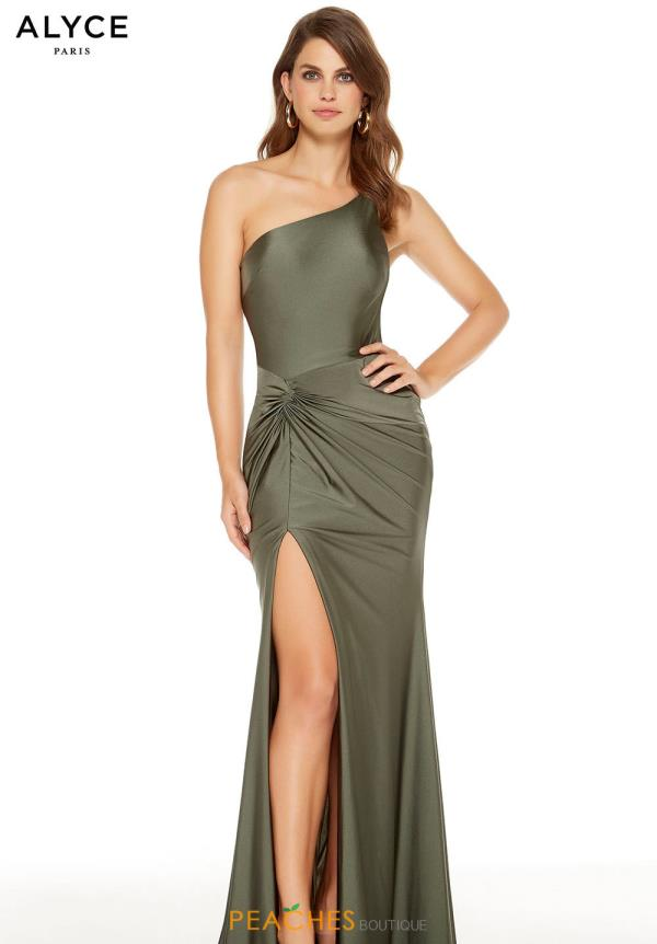 Alyce Paris One Shoulder Fitted Dress 60768