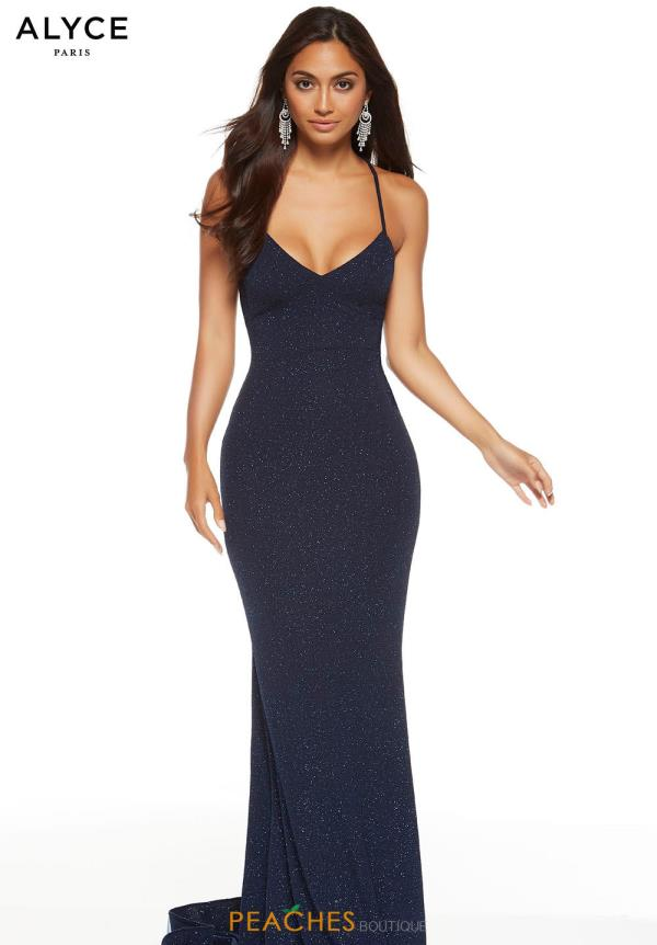 Alyce Paris Long Fitted Dress 60796