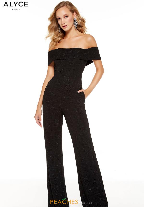 Alyce Paris Off the Shoulder Jump Suit 60802