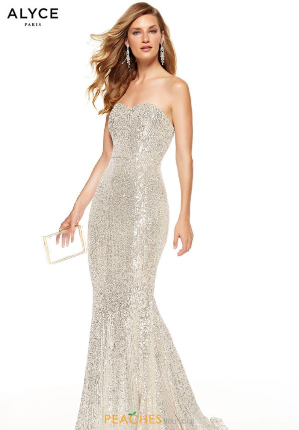 Alyce Paris Strapless Long Dress 60809