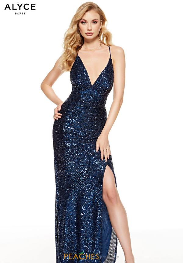 Alyce Paris Long Sequins Dress 60812