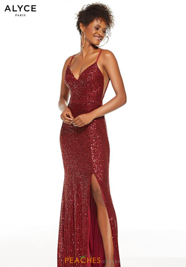 Alyce Paris Long Beaded Dress 60813