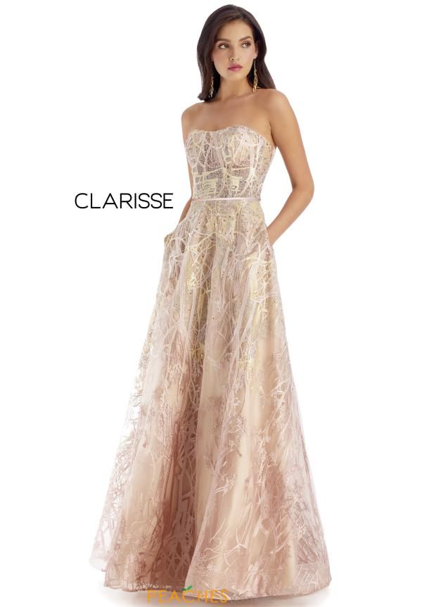 Clarisse Strapless A Line Dress 5108