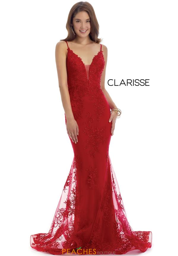 Clarisse Long Fitted Dress 5133