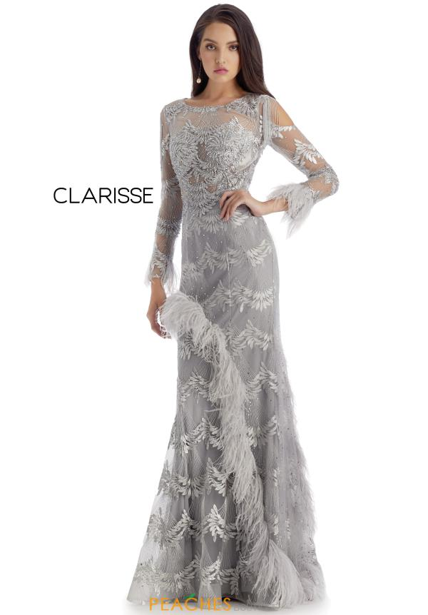 Clarisse Long Beaded Dress 5158