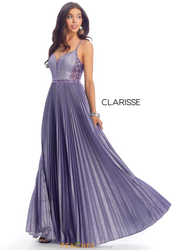 Clarisse Pleated Beaded Dress 8030