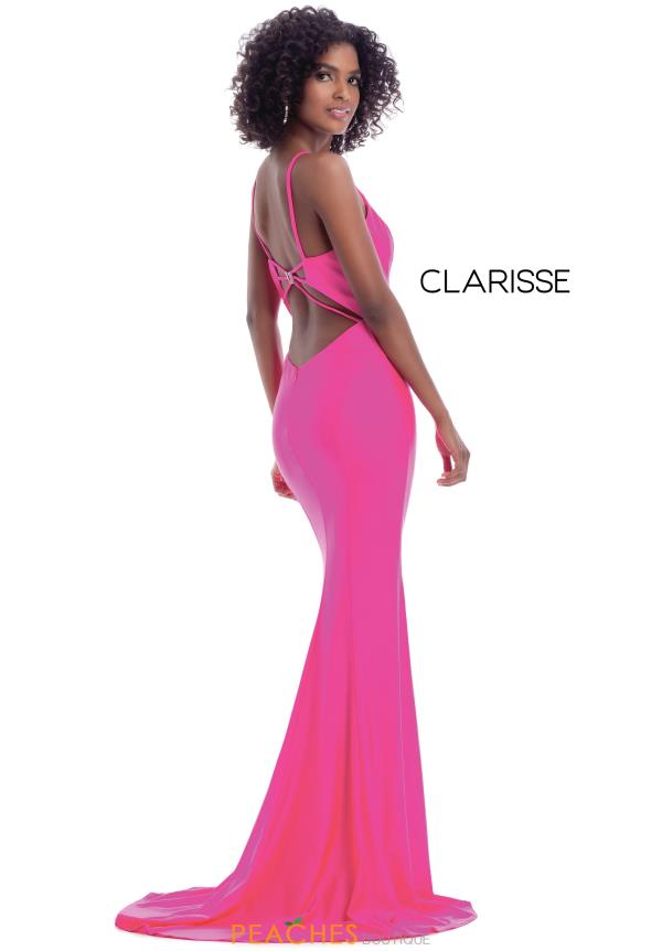 Clarisse Long Fitted  Dress 8044