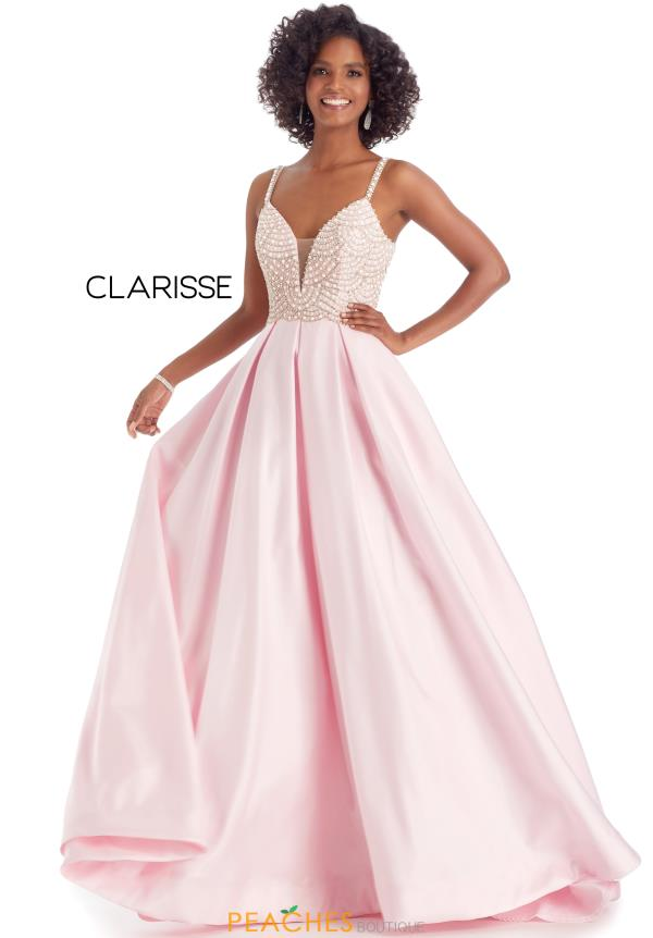 Clarisse Beaded Ball Gown Dress 8055