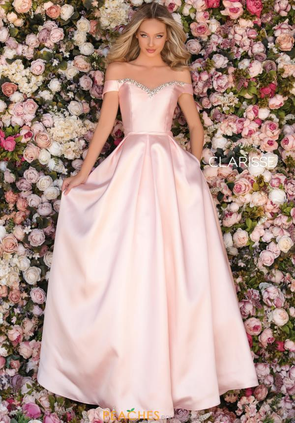 Clarisse Off The Shoulder Ball Gown Dress 8057