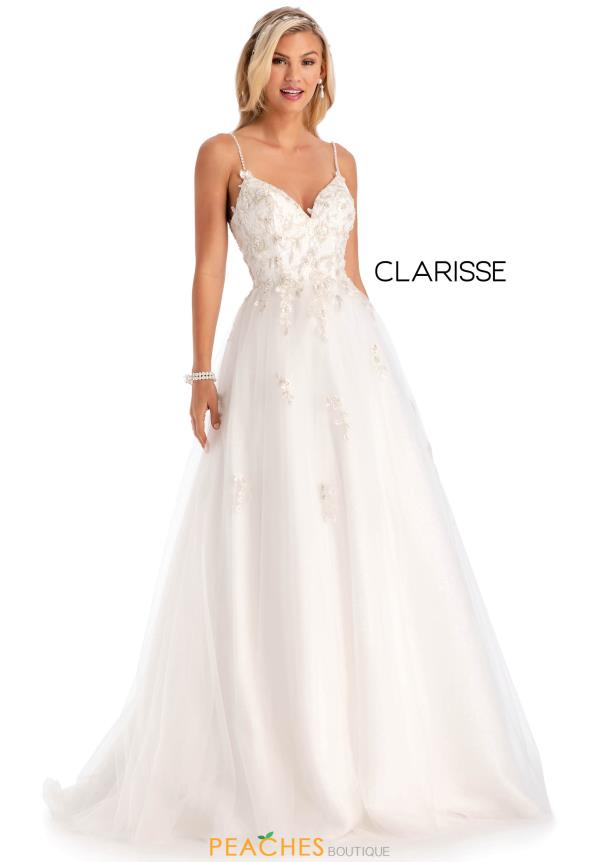 Clarisse Beaded A Line Dress 8082