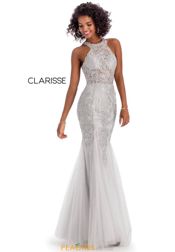 Clarisse  Fitted Halter Dress 8094