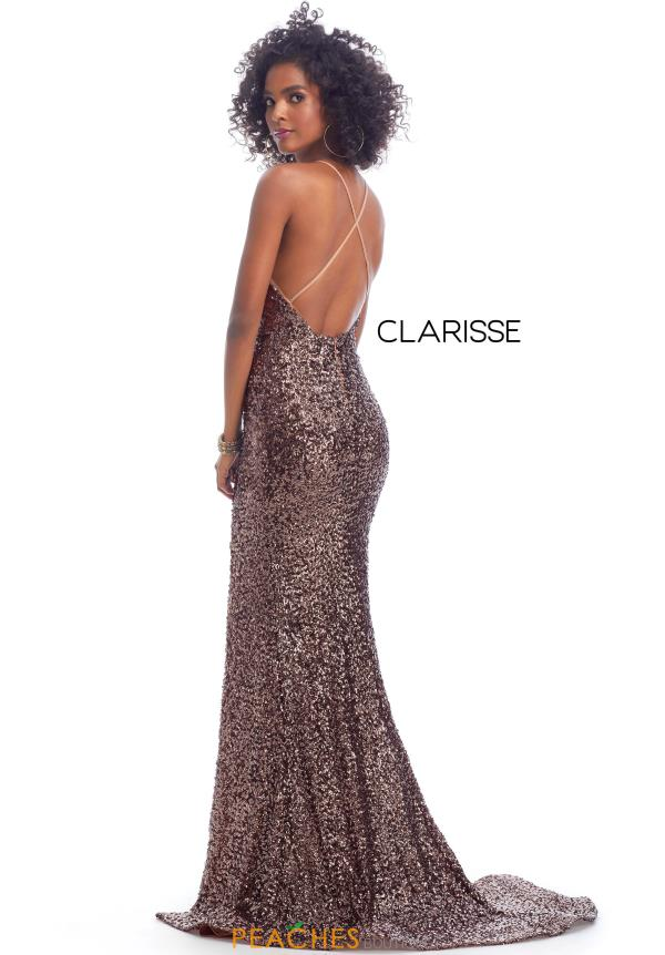 Clarisse Fitted Glitter Dress 8118