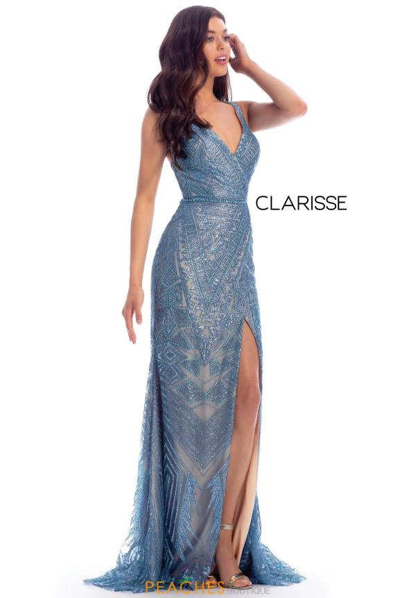 Clarisse Long Cracked Ice Dress 8126