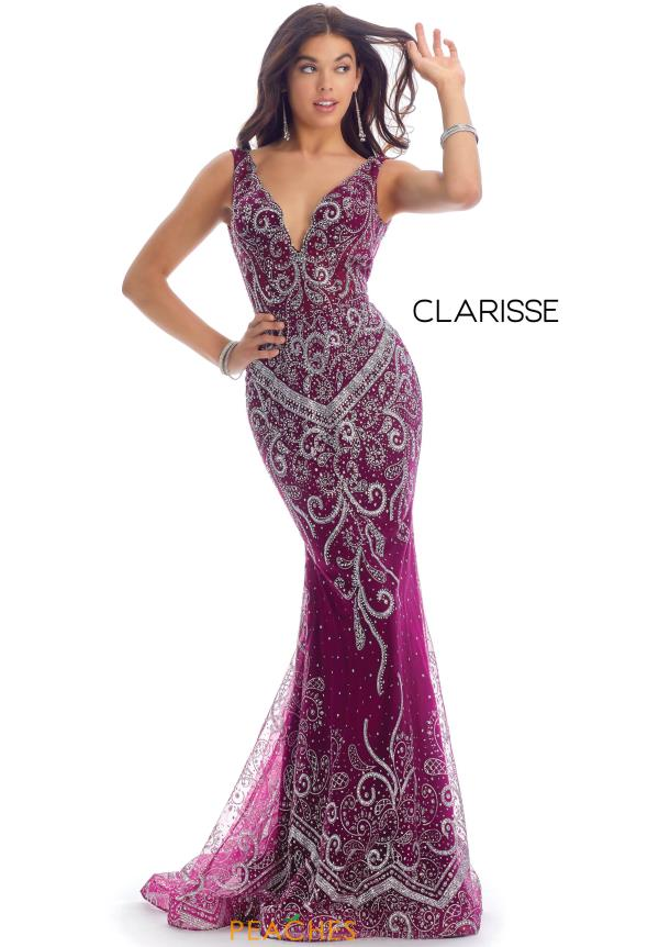 Clarisse Fitted Beaded Dress 8127