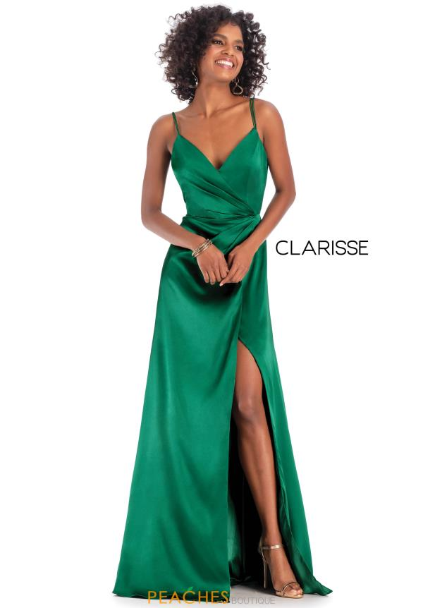 Clarisse Long Ruhed Dress 8143