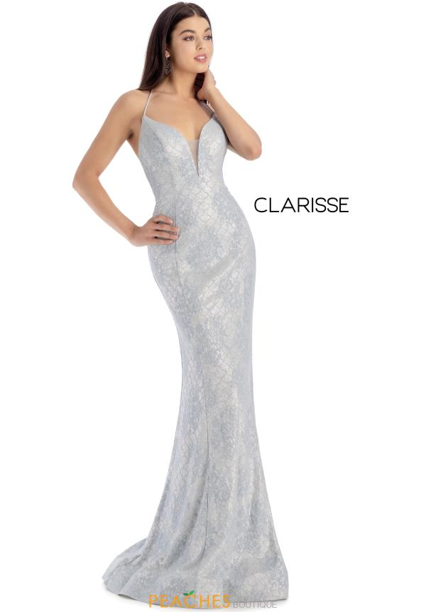 Clarisse Long Fitted Dress 8173