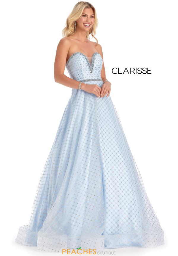 Clarisse Long Beaded  Dress 8201