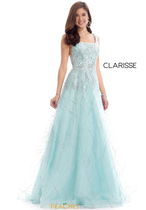 Clarisse Long Beaded Dress 8202
