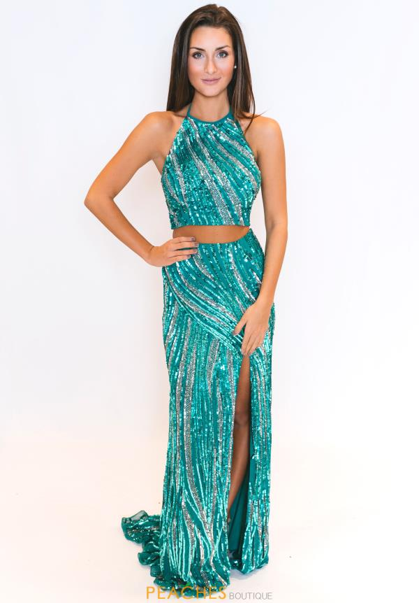 Sherri Hill Beaded Two Piece Dress 51737