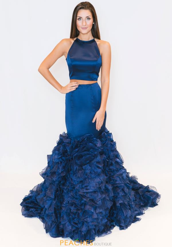 Sherri Hill Two Piece Fitted Dress 51801