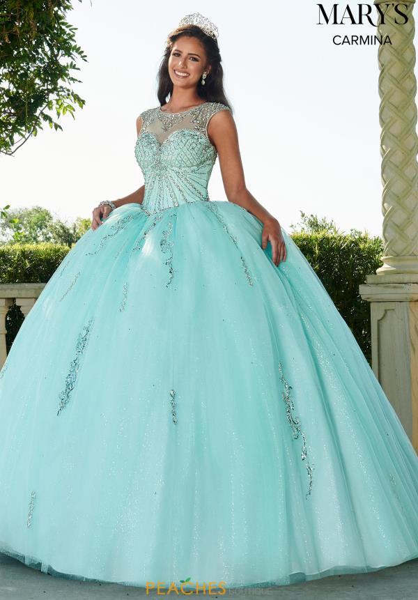 Mary's High Neckline Beaded Ball Gown MQ1066