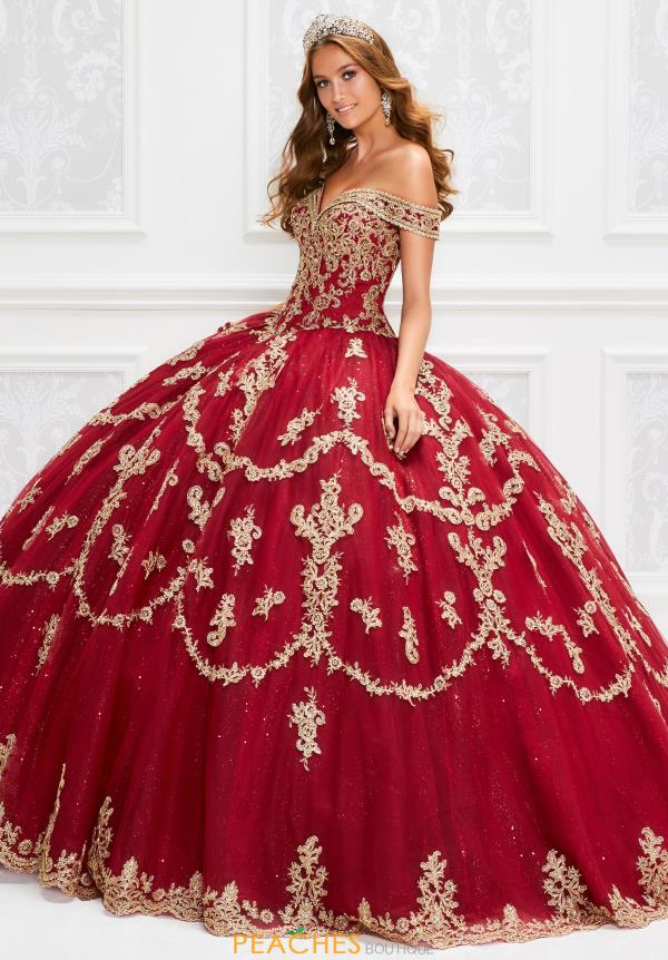 Princesa Beaded Off the Shoulder Dress PR12014