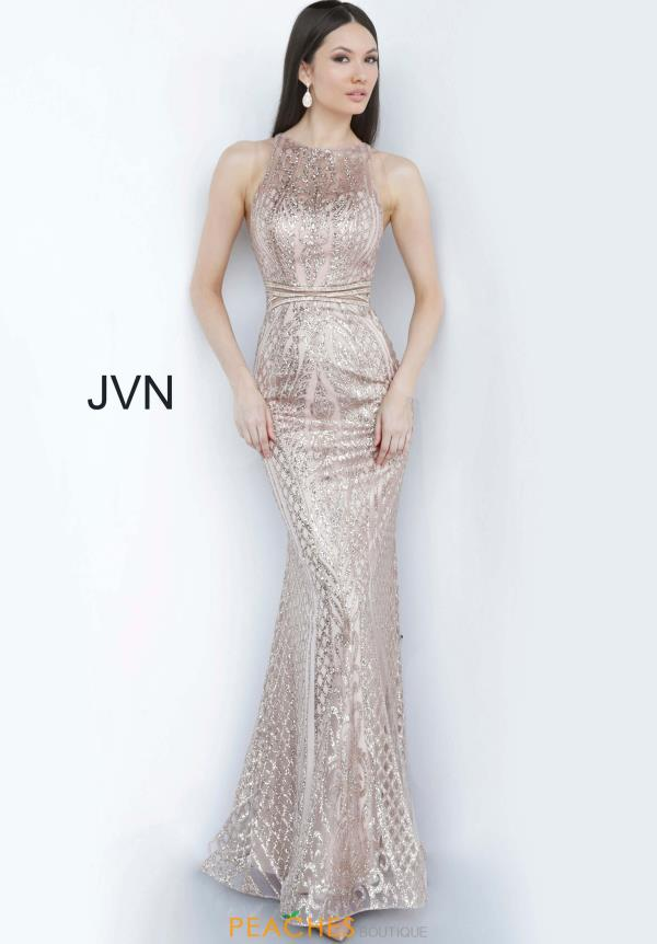 JVN by Jovani Cracked Ice Fitted Dress JVN00840