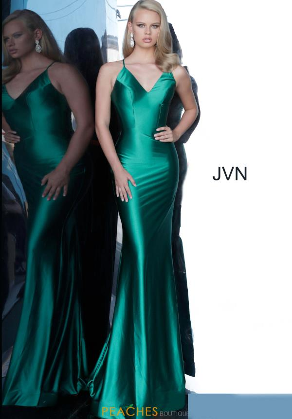 JVN by Jovani V-Neck Fitted Dress JVN00878