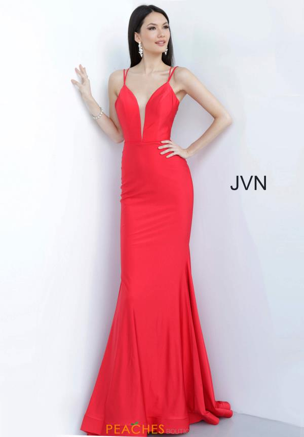 JVN by Jovani Jersey Train Dress JVN00902