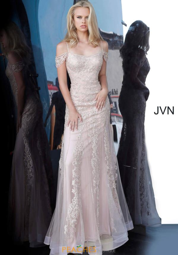 JVN by Jovani Cap Sleeve Beaded Dress JVN02011