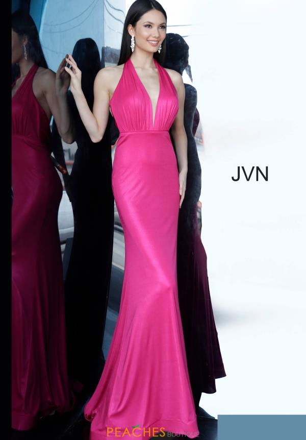 JVN by Jovani Open Back Glitter Dress JVN02378