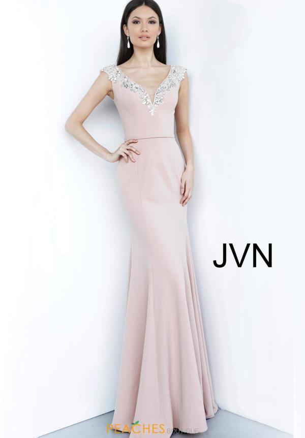 JVN by Jovani Cap Sleeve Long Dress JVN02629