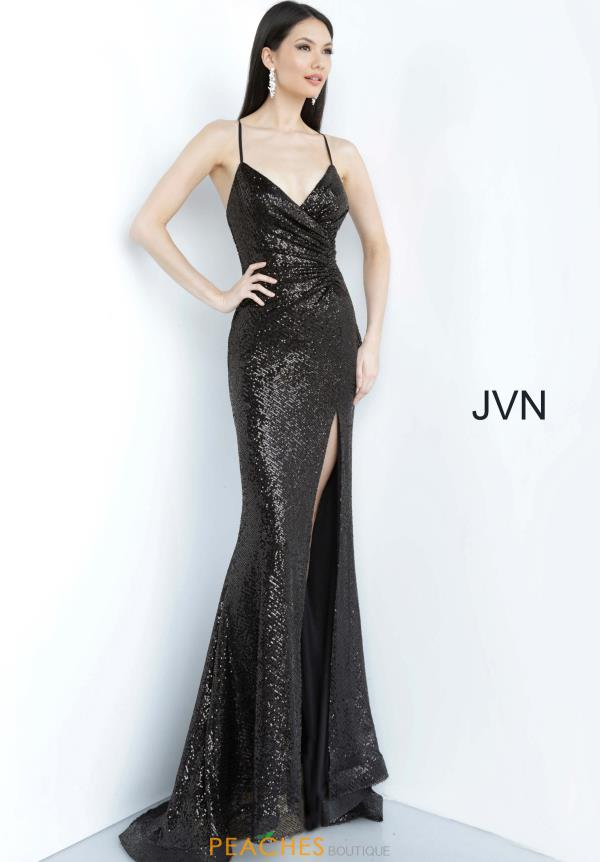 JVN by Jovani Fully Beaded Fitted Dress JVN03172