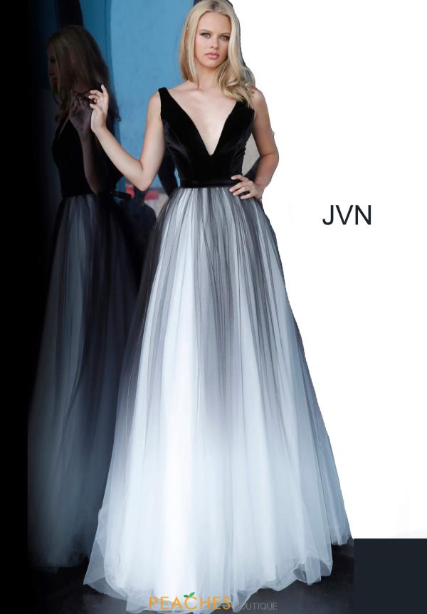 JVN by Jovani Velvet V-Neck Dress JVN2060