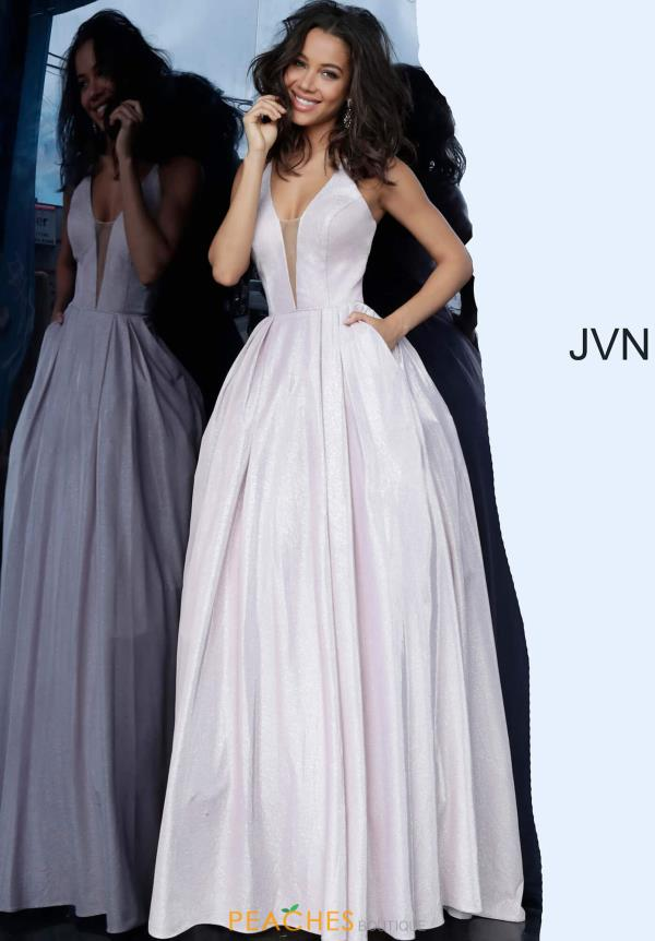 JVN by Jovani V- Neckline A Line Dress JVN2172