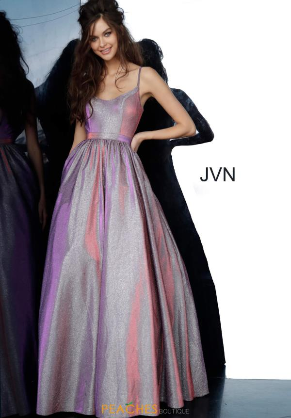 JVN by Jovani Long A Line Dress JVN2191