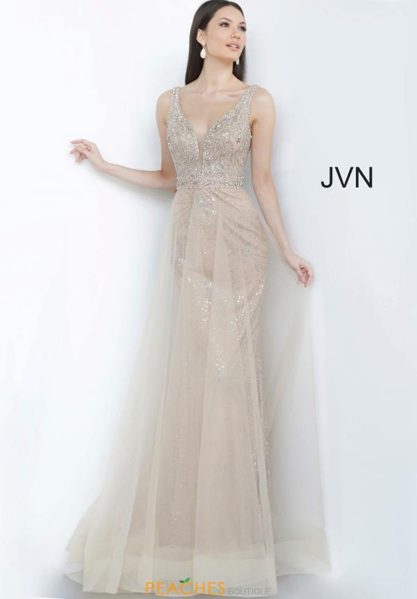 JVN by Jovani Cracked Ice Tulle Dress JVN2343