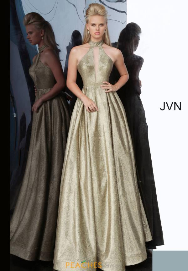 JVN by Jovani High Neckline Glitter Dress JVN2368