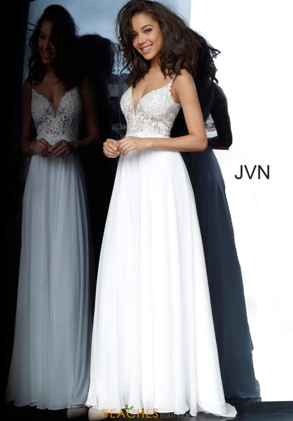JVN by Jovani V-Neck Applique Dress JVN2390